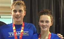 Gold and silver for Team BC on final day of swimming