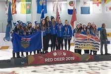 Women's speed skating relay team wins a bronze medal