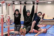 Trampoline athletes ready to jump into action