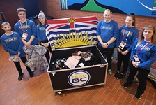 Team BC trampoline tucks in handmade goods for Games legacy project
