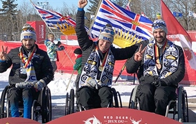 Team BC trio sweeps podium three times at Canada Winter Games